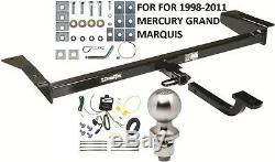 COMPLETE TRAILER HITCH PACKAGE With WIRING KIT FOR 1998-2011 MERCURY GRAND MARQUIS