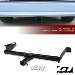 Class 3 Matte Blk Trailer Hitch Receiver Towing Kit 2 For 2008-16 Town &Country