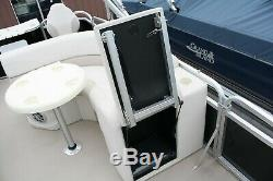 Closeout Model-New 19 ft fish pontoon boat with motor and trailer