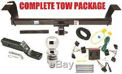 Complete Trailer Hitch Receiver Tow Package Fast Shipp No Drill Class 3