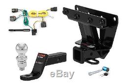 Curt Class 3 Trailer Hitch Tow Package with 2 Ball for Jeep Grand Cherokee