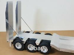 Custom Aluminum Tamiya 1/14 R/C Scale 3-Axles Low Boy Rider Flatbed Ramp Trailer