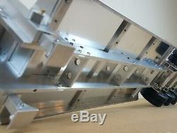 Custom Full Aluminum Tamiya 1/14 Scale 3-Axle Low Boy Rider Flatbed Trailer