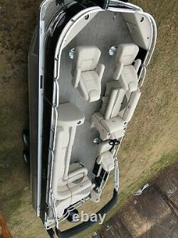Dealer demo-Triple tube- 2021 24 ft pontoon boat with 225 hp and trailer