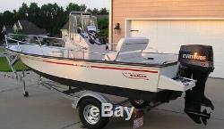 Deluxe Boston Whaler Boat With New Swing Tongue Trailer & Touch Screen Gps