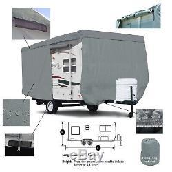 Deluxe UHaul CT-13 Travel Trailer Camper Storage Cover With Zipper Door Access