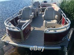 Demo triple tube 24 ft pontoon boat with 250 and trailer