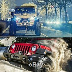 Electric Winch 12V 13000lbs Waterproof Truck Trailer Synthetic Rope 4WD