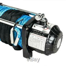 Electric Winch 13000LBS Waterproof Truck Trailer Synthetic Rope 4WD New Winch