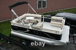 Electric16 ft pontoon boat motor and trailer -New