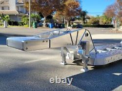 Extended Deck Aluminum Lowboy Flatbed Trailer Tamiya Toy 1/14 King Grand Hauler