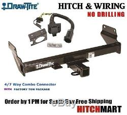 FITS 2011-2019 GRAND CHEROKEE TRAILER HITCH & WIRING with 7 WAY FACTORY TOW 75699