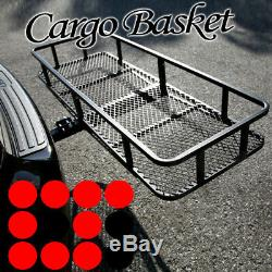 Fit Jeep Car Rear Hitch Basket Travel Luggage Carrier Cargo Extension Rack