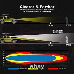 For 2004-2014 Ford F150 Roof 50 inch 5D Curved LED Light Bar +20'' +4'' Pods Kit