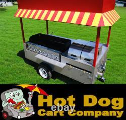 Hot Dog Cart Vending Concession Trailer Stand New Grand Master Hot Dog Cart