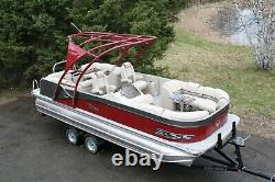 In stock Triple tube-New 23 ft pontoon boat with 200 hp and trailer