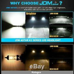 JDM ASTAR 2Pcs 6500K White 9005 HB3 12000LM LED Headlight Kit Hi/Low Beam Bulbs