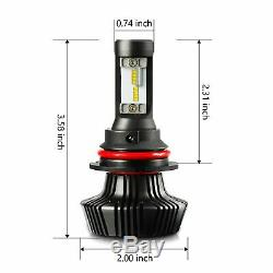 JDM ASTAR 8TH 8000LM 2x 9004/HB1 ZES LED Headlight Hi Low Beam Bulbs Xenon White