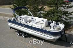 Just in-New 24 two tube pontoon boat with 115 hp and trailer