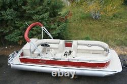 Just in -New 25 ft two tube pontoon boat with 115 hp and trailer