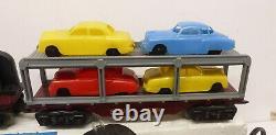 LU Marx 9634 Deluxe Allstate Set w 666, Auto Loader, Sears Trailer, Crane, NICE