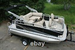 Little pontoon boat sale-New 14 Ft pontoon boat- 25 hp and trailer