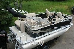 Little pontoon boat sale-New 14 Ft pontoon boat- 40 hp and trailer