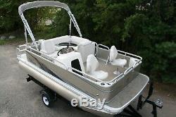 Little pontoon boat sale-New 16 Ft pontoon boat- 25 hp and trailer