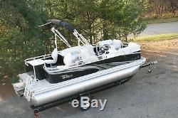Little pontoon boat sale-New 18 Ft pontoon boat- 25 hp and trailer