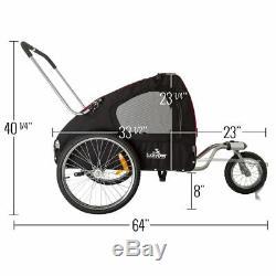 Lucky Dog Deluxe Pet Stroller/Bike Trailer Combo