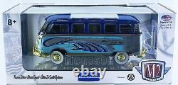 M2 Machines 124 Auto-thentics 1960 Vw Microbus Deluxe U. S. A. Model Chase 1/168
