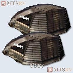 Maxxair II Deluxe Large Vent Cover in SMOKE (Transparent) 2-PACK RV Trailer