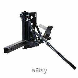 Motorcycle Scooter Carrier Up to 800lb Trailer Hauler Hitch Mount Rack Ramp Anti