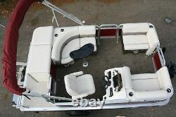 New 14 ft pontoon boat with 25 hp and trailer