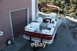 New 16 ft pontoon 25 and trailer