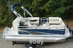 New 16 ft pontoon boat with 25 hp and trailer