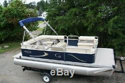 New 18 Ft cruise pontoon boat with 30 hp and trailer