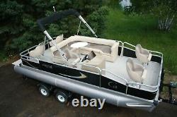 New 20 Party Fish Grand Island pontoon boat-30 four stroke and trailer