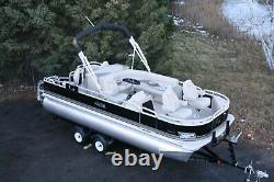New 20 fish and fun Grand Island pontoon boat-115 four stroke and trailer