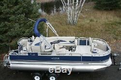 New 20 fish and fun Grand Island pontoon boat-90 four stroke and trailer