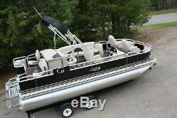 New 20 ft fish and fun pontoon boat with 115 and trailer