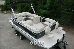 New 20 ft sport bow fish pontoon boat with motor and trailer