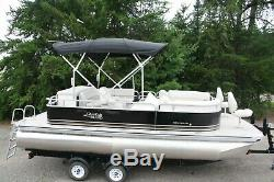 New 21 ft bow Fish with 115 hp and bunk trailer