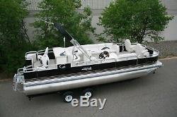 New 24 RCRE fish and fun pontoon with 115 and trailer