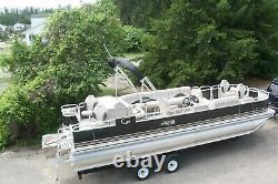New 24 triple tube pontoon boat with 150 hp and trailer
