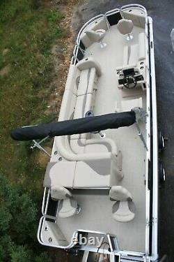 New 24 two tube pontoon boat with 90 hp and trailer