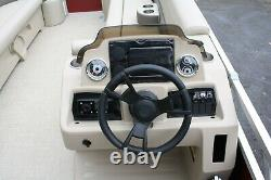 New 2580 pontoon boat with 115 hp and trailer