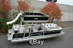 New 2785 two tube Grand Island Funship pontoon boat with 115 and trailer