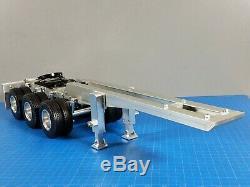 New Aluminum Tamiya 1/14 R/C Semi Truck 3 Axles Dolly Trailer 5th wheel Coupler
