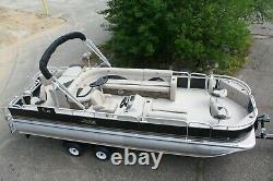 New Triple tube 24 ft pontoon boat with 150 hp and trailer